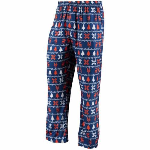 FOCO メッツ インナー 下着 ナイトウエア メンズ ナイト ルーム パジャマ 【 New York Mets Holiday Polyester Print Pants - Royal 】 Royal