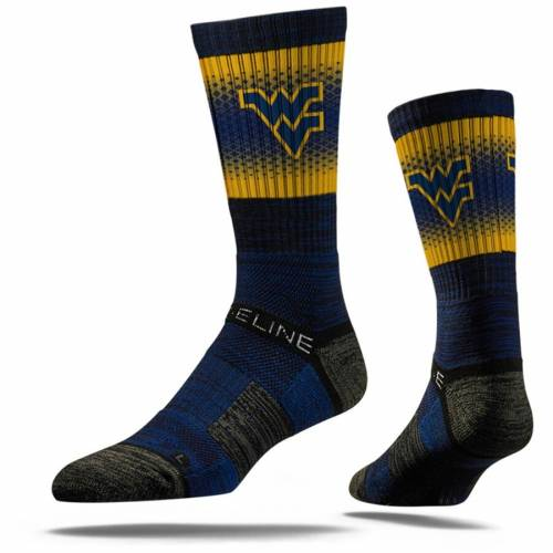 STRIDELINE バージニア ロゴ ソックス 靴下 紺 ネイビー インナー 下着 ナイトウエア メンズ 下 レッグ 【 West Virginia Mountaineers Primary Logo Crew Socks - Navy 】 Navy