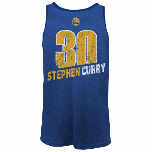 MAJESTIC THREADS マジェスティック ステファン カリー スケートボード ウォリアーズ タンクトップ & 【 CURRY STATE MAJESTIC THREADS STEPHEN GOLDEN WARRIORS NAME NUMBER TRIBLEND TANK TOP ROYAL 】 メンズファ