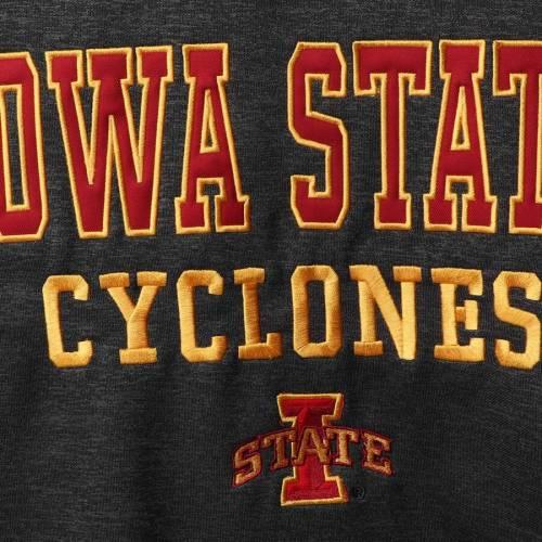 COLOSSEUM スケートボード パフォーマンス チャコール メンズファッション トップス スウェット トレーナー メンズ 【 Iowa State Cyclones Performance Pullover Sweatshirt - Heathered Charcoal 】 Heathered Char