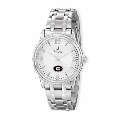ブローバ BULOVA ステンレス 銀色 スチール ウォッチ 時計 シルバー 【 WATCH SILVER BULOVA GEORGIA BULLDOGS STAINLESS STEEL QUARTZ 】 腕時計 メンズ腕時計