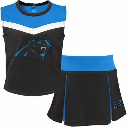 OUTERSTUFF カロライナ パンサーズ 子供用 キッズ ベビー マタニティ ジュニア 【 Carolina Panthers Youth Two-piece Spirit Cheerleader Set - Black/blue 】 Black/blue