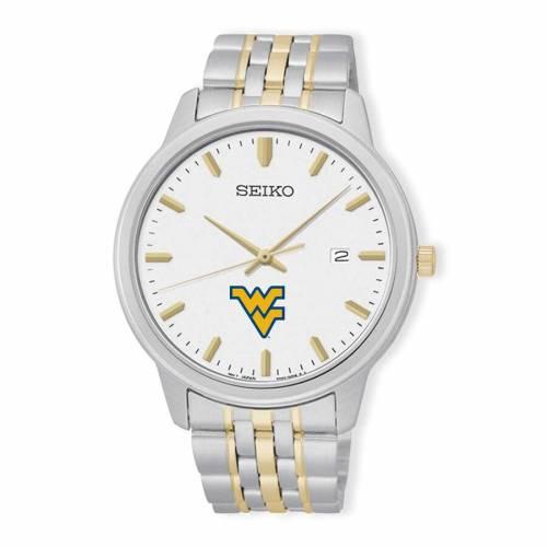 SEIKO バージニア ブレスレット ウォッチ 時計 銀色 シルバー 【 WATCH SILVER SEIKO WEST VIRGINIA MOUNTAINEERS PRIME BRACELET GOLD 】 腕時計 メンズ腕時計