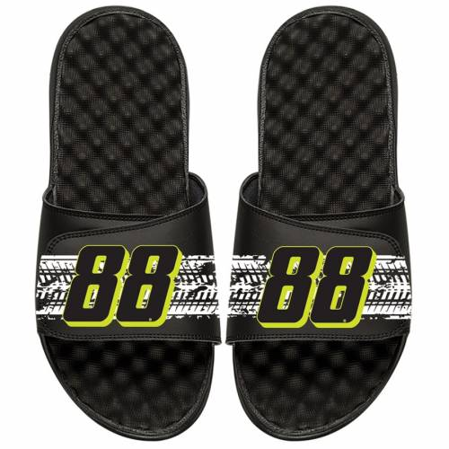 ISLIDE 子供用 サンダル キッズ ベビー マタニティ ジュニア 【 Alex Bowman Youth Bar Slide Sandals 】 Black