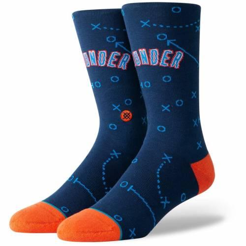 スタンス STANCE シティ サンダー ソックス 靴下 インナー 下着 ナイトウエア メンズ 下 レッグ 【 Oklahoma City Thunder Playbook Crew Socks 】 Color