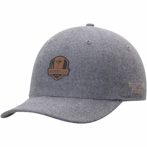 IMPERIAL スエード スウェード 灰色 グレー グレイ 【 GRAY IMPERIAL 2020 RYDER CUP LASERETCHED SUEDE PATCH UNSTRUCTURED ADJUSTABLE HAT 】 バッグ  キャップ 帽子 メンズキャップ 帽子