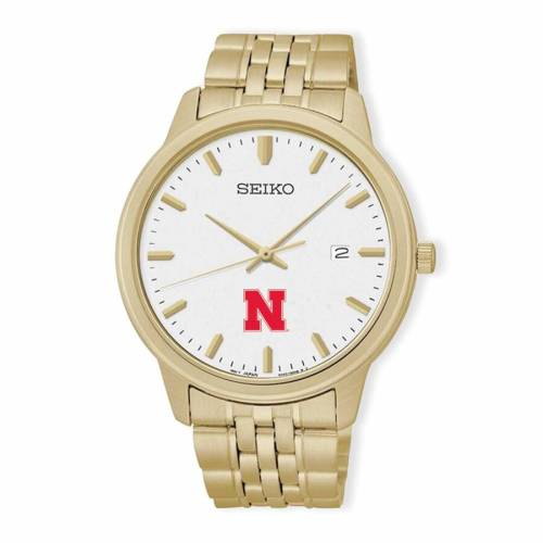 SEIKO ウォッチ 時計 金色 ゴールド 【 WATCH SEIKO NEBRASKA CORNHUSKERS QUARTZ GOLD 】 腕時計 メンズ腕時計