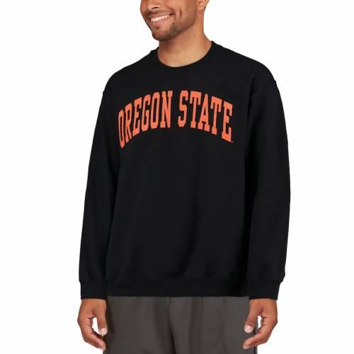 FANATICS BRANDED オレゴン スケートボード 黒 ブラック メンズファッション トップス スウェット トレーナー メンズ 【 Oregon State Beavers Basic Arch Sweatshirt - Black 】 Black