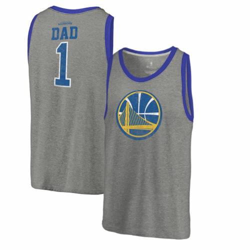 FANATICS BRANDED スケートボード ウォリアーズ タンクトップ 【 STATE GOLDEN WARRIORS GREATEST DAD TRIBLEND TANK TOP HEATHERED GRAY 】 メンズファッション トップス 送料無料