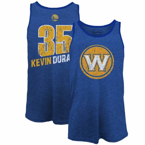 MAJESTIC THREADS マジェスティック ケビン デュラント スケートボード ウォリアーズ タンクトップ & 【 STATE MAJESTIC THREADS KEVIN DURANT GOLDEN WARRIORS NAME NUMBER TRIBLEND TANK TOP ROYAL 】 メンズファッ