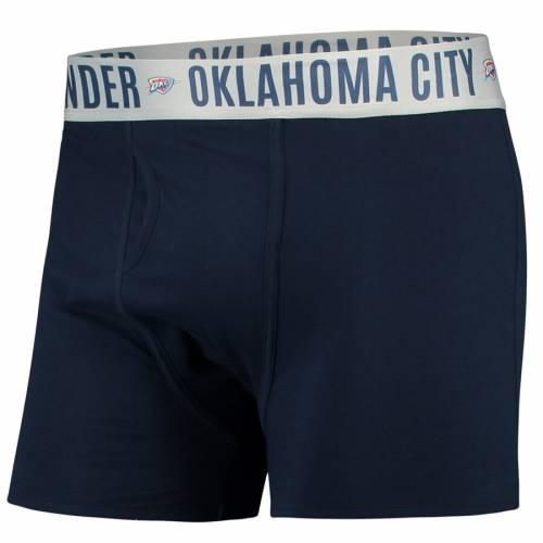 CONCEPTS SPORT シティ サンダー 紺 ネイビー 【 NAVY CONCEPTS SPORT OKLAHOMA CITY THUNDER BOXER BRIEF WITH SUBLIMATED WAISTBAND 】 インナー 下着 ナイトウエア メンズ