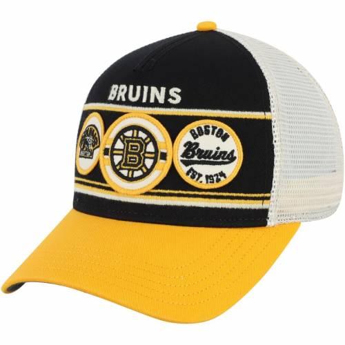 AMERICAN NEEDLE ボストン トラッカー 黒 ブラック 金色 ゴールドBLACK AMERICAN NEEDLE BOSTON BRUINS DOMINO ADJUSTABLE TRUCKER HAT GOLDバッグキャップ 帽子 メンズキャップ 帽子4AL5jR