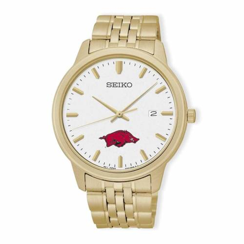 SEIKO ウォッチ 時計 金色 ゴールド 【 WATCH SEIKO ARKANSAS RAZORBACKS QUARTZ GOLD 】 腕時計 メンズ腕時計