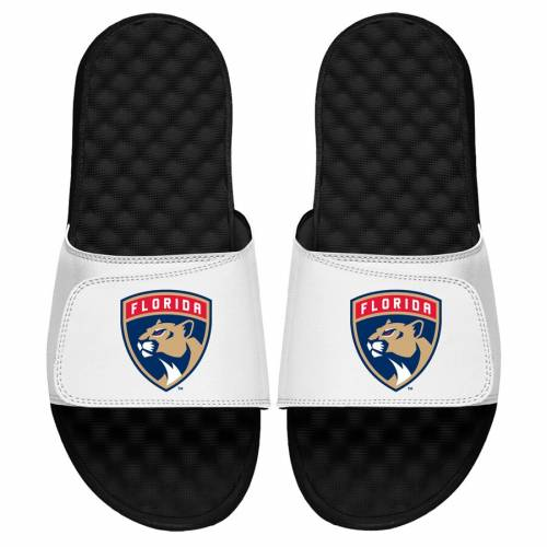 ISLIDE フロリダ パンサーズ 子供用 ロゴ サンダル 白 ホワイト 【 SLIDE WHITE ISLIDE FLORIDA PANTHERS YOUTH PRIMARY LOGO SANDALS 】 キッズ ベビー マタニティ