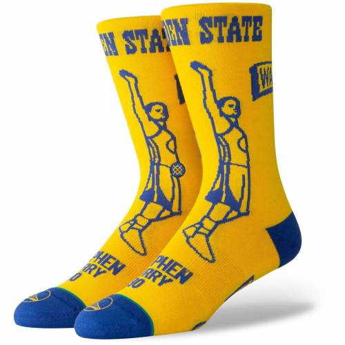 スタンス STANCE ステファン カリー スケートボード ウォリアーズ ソックス 靴下 インナー 下着 ナイトウエア メンズ 下 レッグ 【 Stephen Curry Golden State Warriors Stencil Crew Socks 】 Color