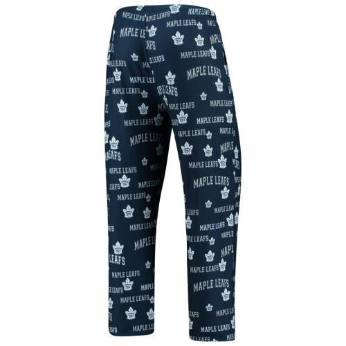 CONCEPTS SPORT トロント 紺 ネイビー インナー 下着 ナイトウエア メンズ ナイト ルーム パジャマ 【 Toronto Maple Leafs Fairway All Over Print Lounge Pants - Navy 】 Navy
