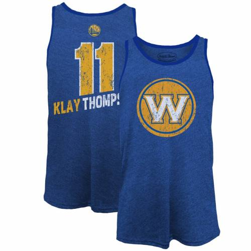 MAJESTIC THREADS マジェスティック スケートボード ウォリアーズ タンクトップ & 【 STATE MAJESTIC THREADS KLAY THOMPSON GOLDEN WARRIORS NAME NUMBER TRIBLEND TANK TOP ROYAL 】 メンズファッション トップス