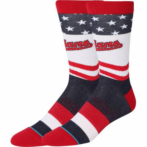 スタンス STANCE クリーブランド インディアンズ ソックス 靴下 インナー 下着 ナイトウエア メンズ 下 レッグ 【 Cleveland Indians Stars And Bars Crew Socks 】 Color