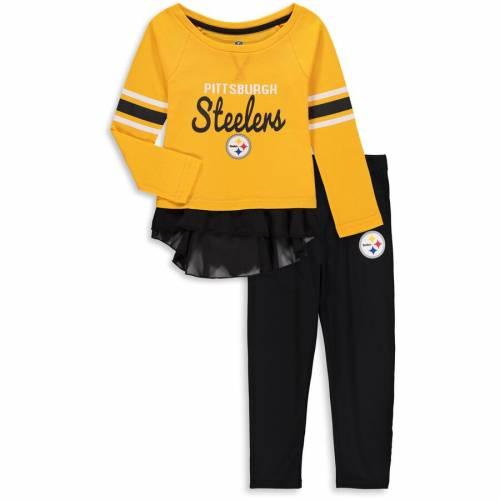OUTERSTUFF ピッツバーグ スティーラーズ ベビー 赤ちゃん用 赤ちゃん 幼児 キッズ マタニティ ジュニア 【 Pittsburgh Steelers Girls Toddler Mini Formation Set - Gold 】 Gold