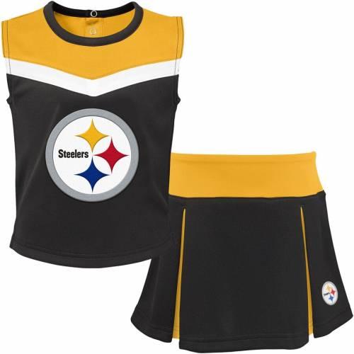 OUTERSTUFF ピッツバーグ スティーラーズ 子供用 キッズ ベビー マタニティ ジュニア 【 Pittsburgh Steelers Youth Two-piece Spirit Cheerleader Set - Black/gold 】 Black/gold