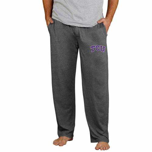 CONCEPTS SPORT ニット チャコール インナー 下着 ナイトウエア メンズ ナイト ルーム パジャマ 【 Tcu Horned Frogs Quest Knit Pants - Charcoal 】 Charcoal