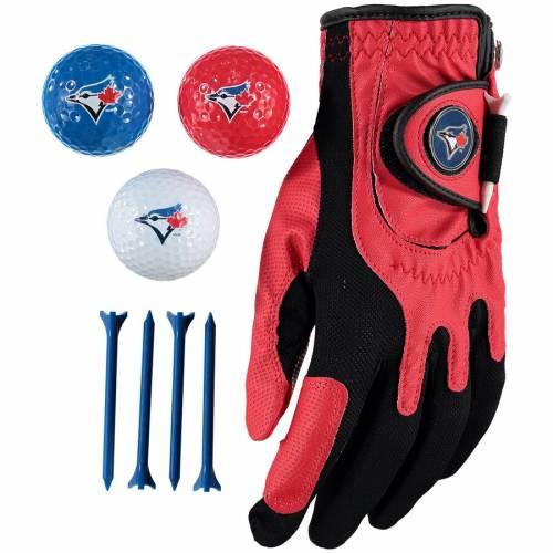 ZERO FRICTION BY TEAM GOLF トロント 青 ブルー ゴルフ Tシャツ グローブ グラブ 手袋 Balls, スポーツ アウトドア メンズ 【 Toronto Blue Jays Golf Balls, Tees And Glove Set 】 Color