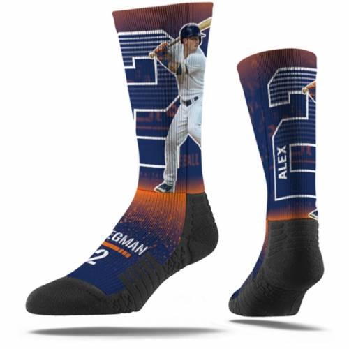STRIDELINE ヒューストン アストロズ ソックス 靴下 紺 ネイビー インナー 下着 ナイトウエア メンズ 下 レッグ 【 Alex Bregman Houston Astros Full Sublimated Player Crew Socks - Navy 】 Navy