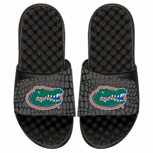 ISLIDE フロリダ 子供用 サンダル 黒 ブラック キッズ ベビー マタニティ ジュニア 【 Florida Gators Youth Gator Skin Slide Sandals - Black 】 Black