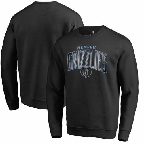 FANATICS BRANDED メンフィス グリズリーズ 黒 ブラック メンズファッション トップス スウェット トレーナー メンズ 【 Memphis Grizzlies Arch Smoke Pullover Sweatshirt - Black 】 Black