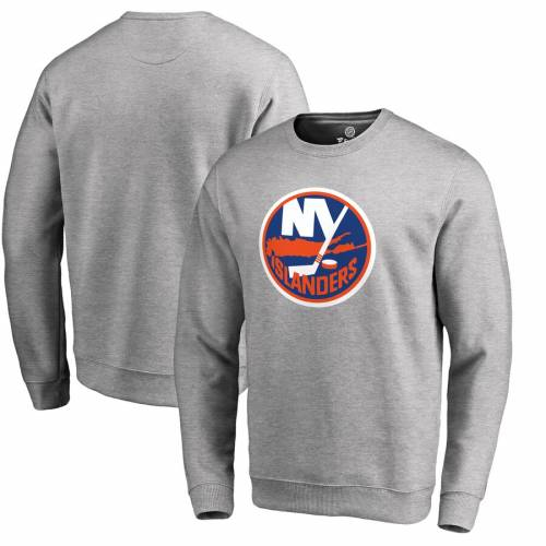 FANATICS BRANDED ロゴ メンズファッション トップス スウェット トレーナー メンズ 【 New York Islanders Primary Logo Pullover Sweatshirt - Ash 】 Ash