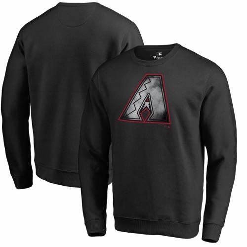 FANATICS BRANDED アリゾナ ダイヤモンドバックス コア フリース 黒 ブラック メンズファッション トップス スウェット トレーナー メンズ 【 Arizona Diamondbacks Core Smoke Fleece Sweatshirt - Black 】 B