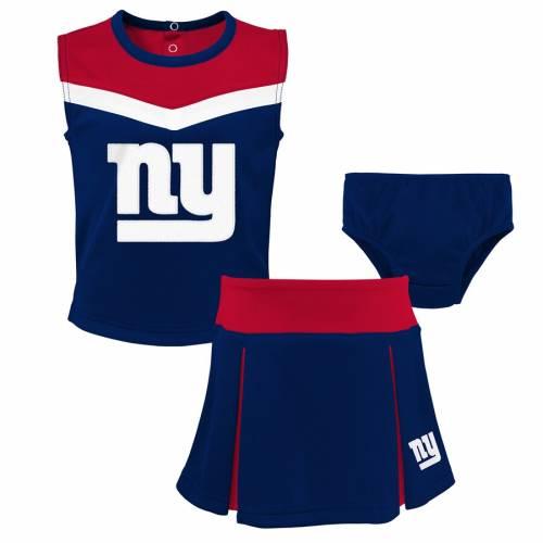 OUTERSTUFF ジャイアンツ 男の子 女の子 子供用 キッズ 小学生 ベビー マタニティ ジュニア 【 New York Giants Girls Preschool Two-piece Spirit Cheer Cheerleader Set With Bloomers - Royal 】 Royal