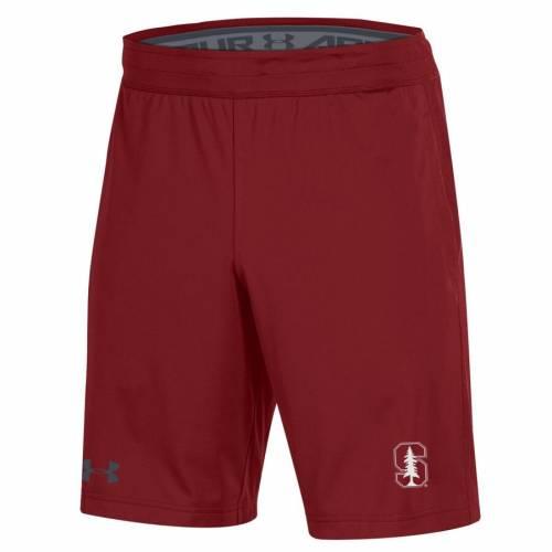 アンダーアーマー UNDER ARMOUR スタンフォード 赤 カーディナル ショーツ ハーフパンツ メンズファッション ズボン パンツ メンズ 【 Stanford Cardinal Mk-1 Shorts - Cardinal 】 Cardinal