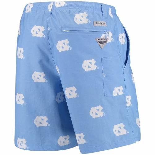"""COLUMBIA PFG ノース カロライナ ハイブリッド ショーツ ハーフパンツ 青 ブルー 8"""" メンズファッション ズボン パンツ メンズ 【 North Carolina Tar Heels Backcast Ii 8"""" Omni-shade Hybrid Shorts - Carolina"""