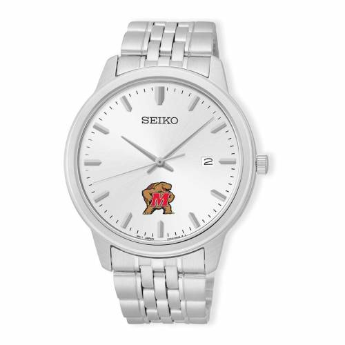 SEIKO メリーランド ステンレス 銀色 スチール ウォッチ 時計 シルバー 【 WATCH SILVER SEIKO MARYLAND TERRAPINS ANALOG QUARTZ STAINLESS STEEL 】 腕時計 メンズ腕時計