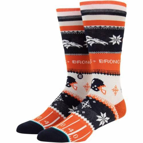 スタンス STANCE デンバー ブロンコス ソックス 靴下 インナー 下着 ナイトウエア メンズ 下 レッグ 【 Denver Broncos Holiday Sweater Crew Socks 】 Color