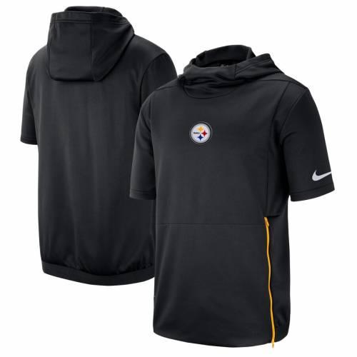 ナイキ NIKE ピッツバーグ スティーラーズ サイドライン パフォーマンス 黒 ブラック メンズファッション トップス スウェット トレーナー メンズ 【 Pittsburgh Steelers Sideline Performance Hooded