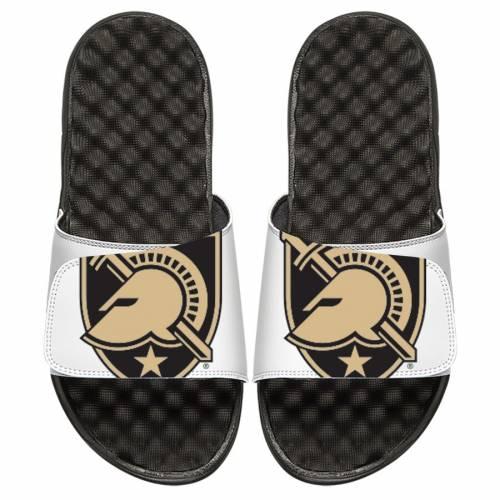 ISLIDE 子供用 ロゴ サンダル 黒 ブラック キッズ ベビー マタニティ ジュニア 【 Army Knights Youth Oversized Primary Logo Slide Sandals Black 】 White