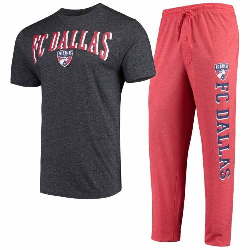 CONCEPTS SPORT ダラス インナー 下着 ナイトウエア メンズ ナイト ルーム パジャマ 【 Fc Dallas Spar Pants And Top Sleep Set - Red/charcoal 】 Red/charcoal