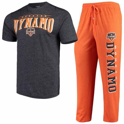 CONCEPTS SPORT ヒューストン インナー 下着 ナイトウエア メンズ ナイト ルーム パジャマ 【 Houston Dynamo Spar Pants And Top Sleep Set - Orange/charcoal 】 Orange/charcoal