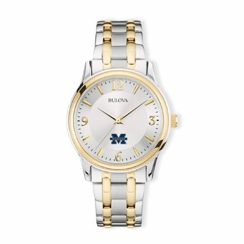 ブローバ BULOVA ミシガン クラシック ウォッチ 時計 銀色 シルバー 【 WATCH SILVER BULOVA MICHIGAN WOLVERINES CLASSIC TWOTONE ROUND GOLD 】 腕時計 メンズ腕時計