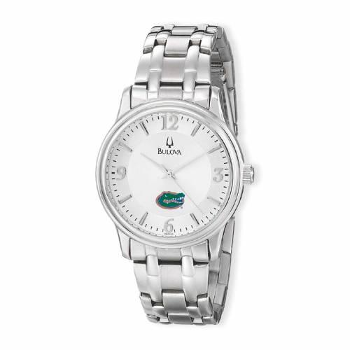 ブローバ BULOVA フロリダ ステンレス 銀色 スチール ウォッチ 時計 シルバー 【 WATCH SILVER BULOVA FLORIDA GATORS STAINLESS STEEL QUARTZ 】 腕時計 メンズ腕時計
