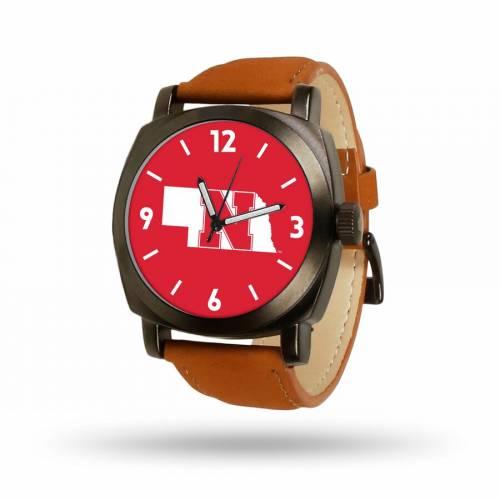 SPARO 茶 ブラウン ストラップ ウォッチ 時計 【 BROWN WATCH SPARO NEBRASKA CORNHUSKERS STRAP COLOR 】 腕時計 メンズ腕時計