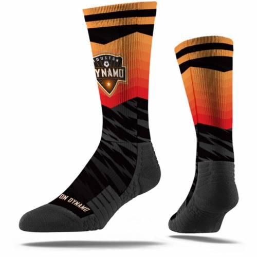 STRIDELINE ヒューストン プレミアム ソックス 靴下 黒 ブラック インナー 下着 ナイトウエア メンズ 下 レッグ 【 Houston Dynamo Premium Sublimated Crew Socks - Black 】 Black