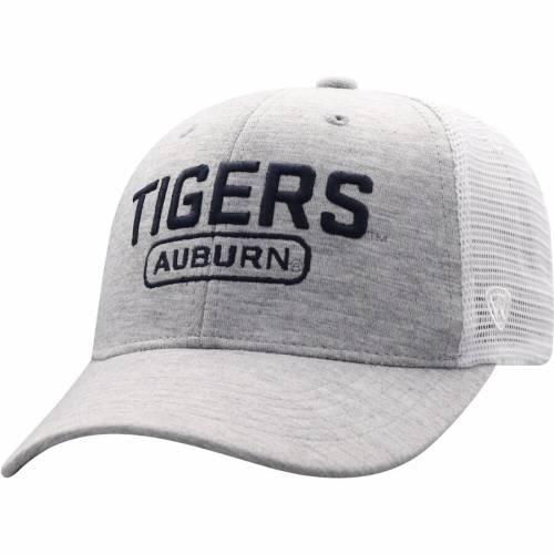 TOP OF THE WORLD タイガース トラッカー スナップバック バッグ キャップ 帽子 メンズキャップ メンズ 【 Auburn Tigers Top Notch Trucker Snapback Adjustable Hat - Gray/white 】 Gray/white