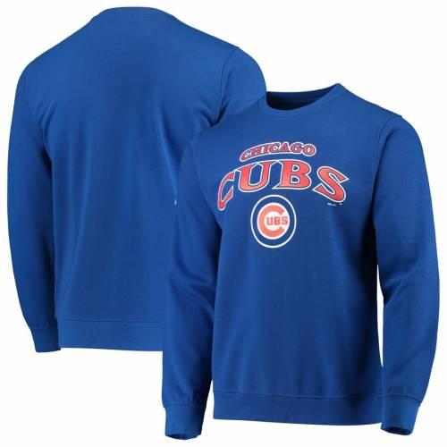 STITCHES シカゴ カブス メンズファッション トップス スウェット トレーナー メンズ 【 Chicago Cubs Sweatshirt - Royal 】 Royal