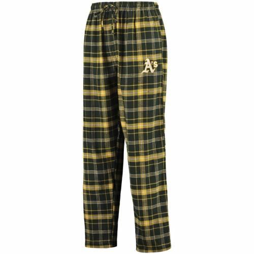 CONCEPTS SPORT オークランド アルティメイト インナー 下着 ナイトウエア メンズ ナイト ルーム パジャマ 【 Oakland Athletics Ultimate Plaid Flannel Pants - Green/gold 】 Green/gold
