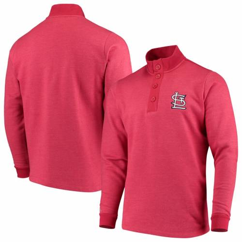 ANTIGUA カーディナルス 赤 レッド St. メンズファッション トップス スウェット トレーナー メンズ 【 St. Louis Cardinals Pivotal Button Pullover Sweatshirt - Red 】 Red