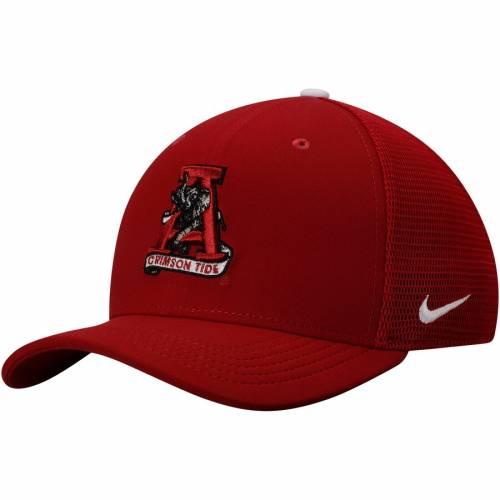 ナイキ NIKE アラバマ パフォーマンス バッグ キャップ 帽子 メンズキャップ メンズ 【 Alabama Crimson Tide Soft Mesh Vault Performance Flex Hat - Crimson 】 Crimson