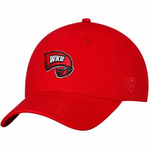 TOP OF THE WORLD ケンタッキー ストライク 赤 レッド バッグ キャップ 帽子 メンズキャップ メンズ 【 Western Kentucky Hilltoppers Strike Unstructured Adjustable Hat - Red 】 Red